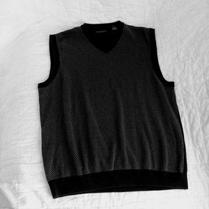 Axist Men's Black And Gray XL Sweater Vest